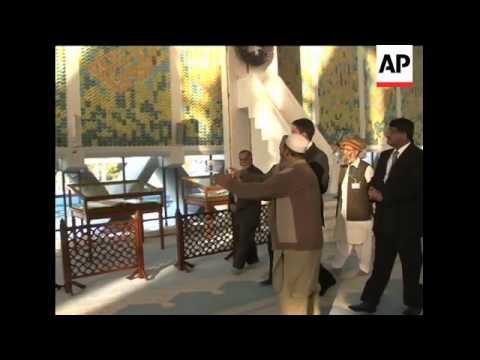 UK FM David Miliband visits the Faisal Mosque
