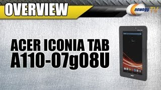 Newegg TV: Acer Iconia Tab A110-07g08u Tablet Product Tour