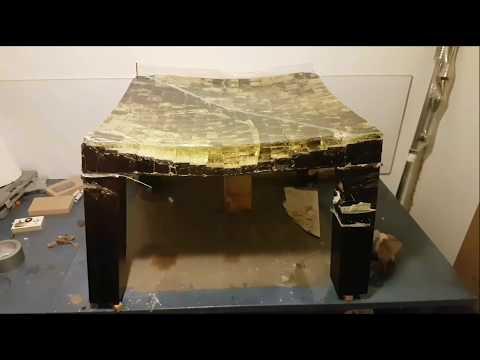 как можно испортить 20кг эпоксидной смолы - стол, урок, Epoxidharz Tisch