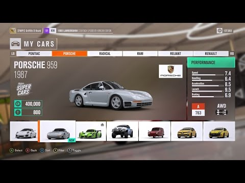 How to Get the Porsche 959 for FREE in Forza Horizon 3!