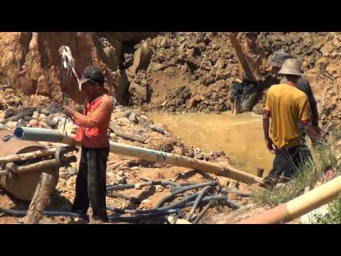 Alluvial gold and diamond mining