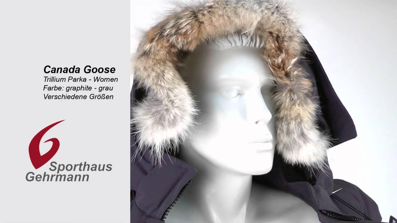 Canada Goose down online price - Canada Goose Ladies Trillium Daunen-Parka mit Pelzkragen, graphite ...