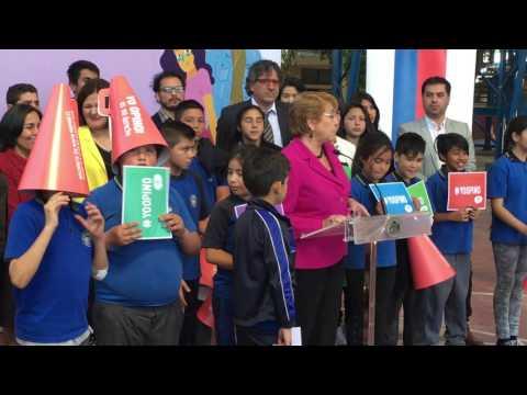 Discurso de la Presidenta Michelle Bachelet en nuestra escuela