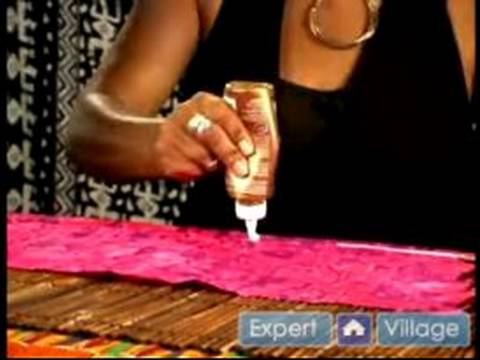 How to Make African Crafts : Applying Material to Your African Theme Rainstick