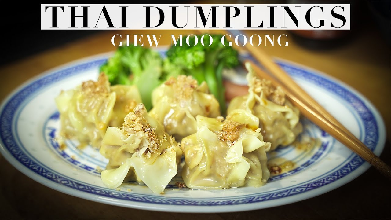 How To Cook THAI DUMPLINGS | Giew Moo Goong | เกี๊ยวต้ม | Authentic Recipe #46