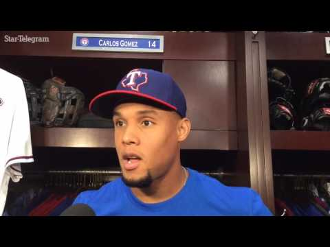 New Rangers outfielder Carlos Gomez gets the start in left Thursday