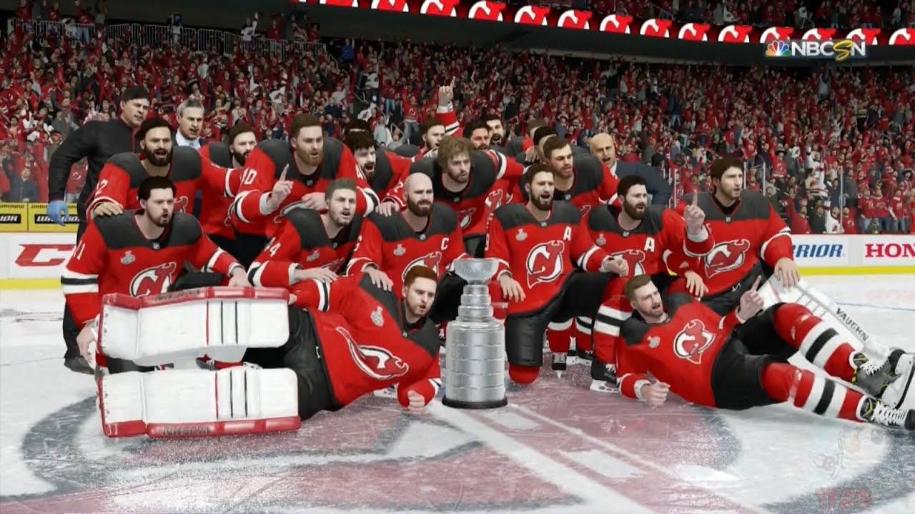 5b64d0b67 NHL 18 - New Jersey Devils Stanley Cup Celebration - YouTube