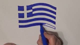 Learn geography for kids How to draw a flag Greece