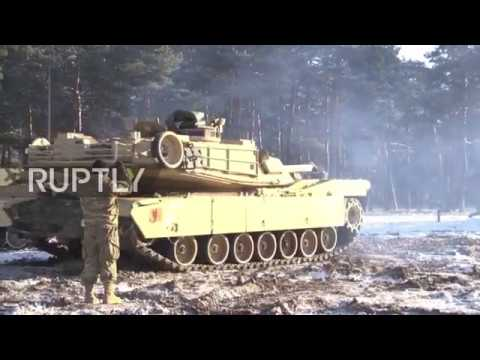 Poland: US tanks arrive in Zagan ahead of NATO drills