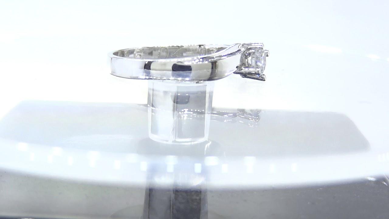 cca3cc1d78ea Anillo de compromiso   18 con diamante 0.35 qts-Gr - YouTube
