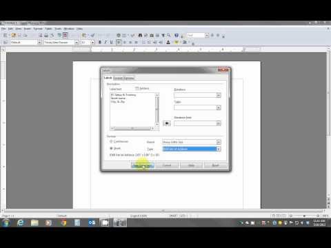 Creating Labels Using OpenOffice