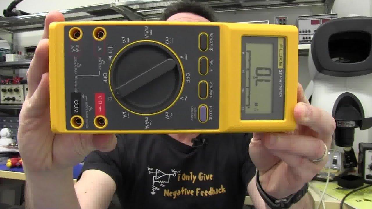 Fluke Esr Meter : Eev fluke multimeter review teardown youtube