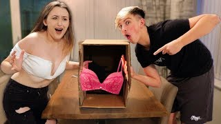 WHAT'S IN THE BOX CHALLENGE WITH MY BOYFRIEND MORGZ!