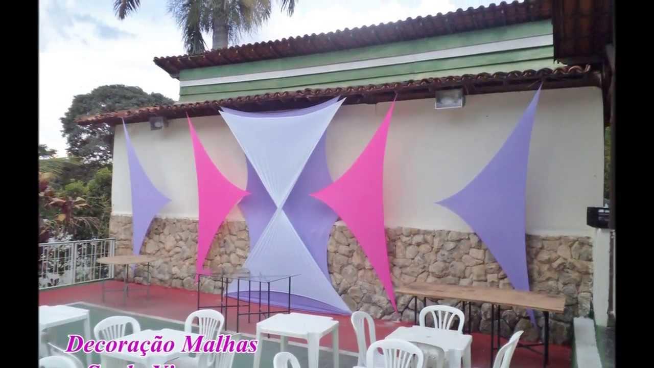 Decoraç u00e3o com Malhas decoraç u00e3o em tecido Saulo Ximenes YouTube -> Decoração Com Tnt Para Festas