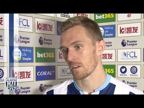 Darren Fletcher reacts to Albion's 4-0 Premier League win over Burnley