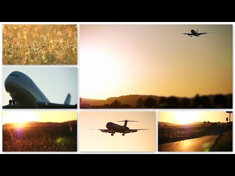 planespotting with strong east winds & sunset landings @ zurich airport 26.05.2017