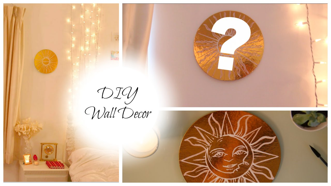 DIY Gold Wall Decor With Super Cheap Object!   YouTube