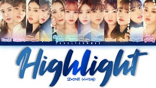 ................................................................................ artist: iz*one (아이즈원) song: highlight album: 'heart*iz' mini album members: ...