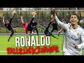 CRISTIANO RONALDO FALLRÜCKZIEHER FUßBALL CHALLENGE!!!
