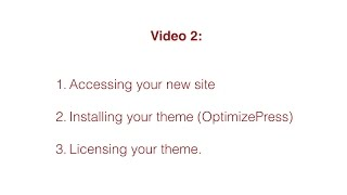 Video 2 - Step Two Creating Your Business Loan Brokerage Website - Installing the Theme