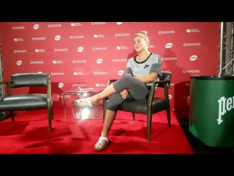 Bianca Andreescu reflects on meeting her idol Simona Halep at Rogers Cup
