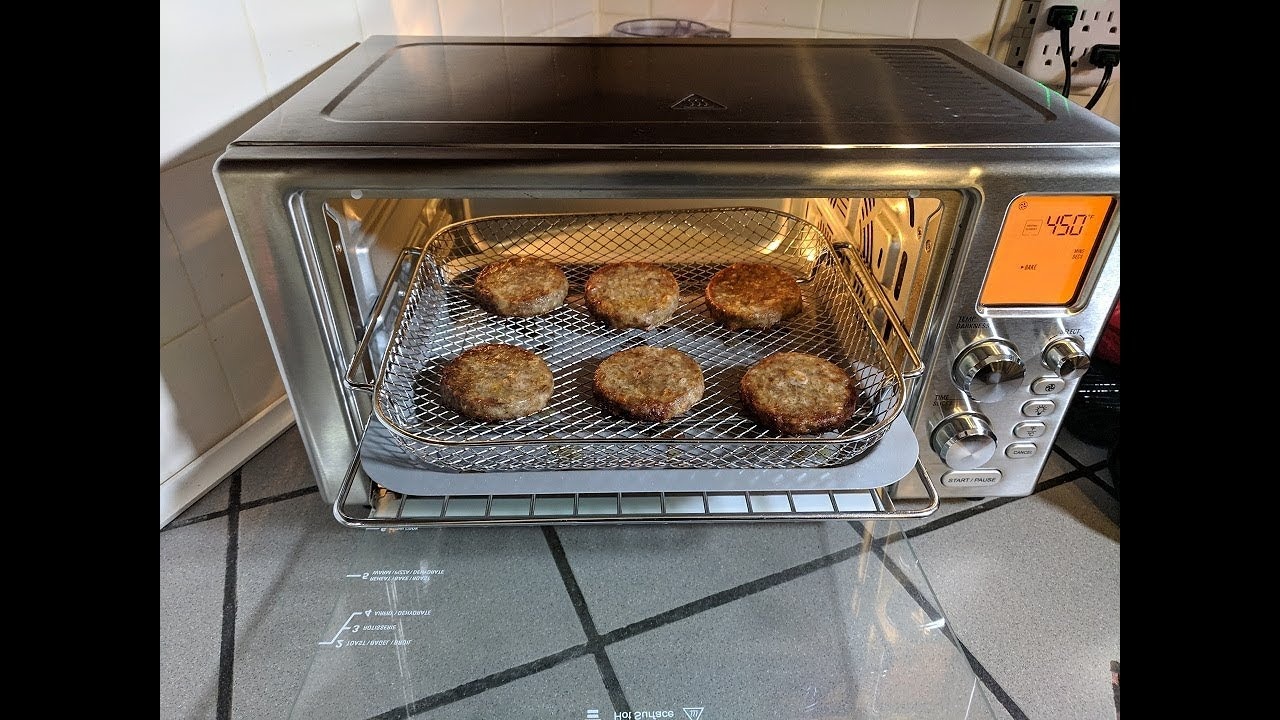 Frozen Sausage Patties Power Air Fryer Oven 360 Convection Toaster Youtube