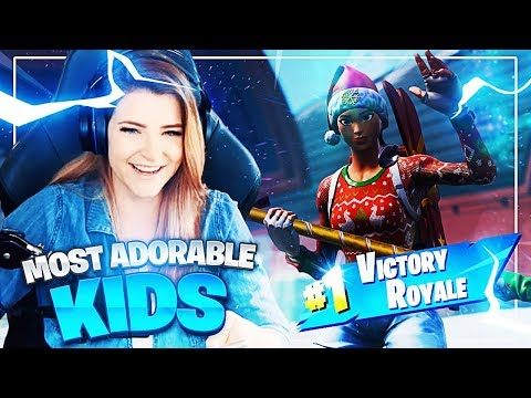 THE MOST ADORABLE KIDS ON FORTNITE! (Fortnite: Battle Royale) | KittyPlays