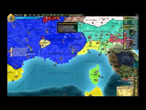 Let's Play Europa Universalis III Divine Wind France Episode II: Italian ambition (1)