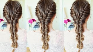Merged French Fishtail Braid Hairstyle | How to Fishtail braid| Braidsandstyles12