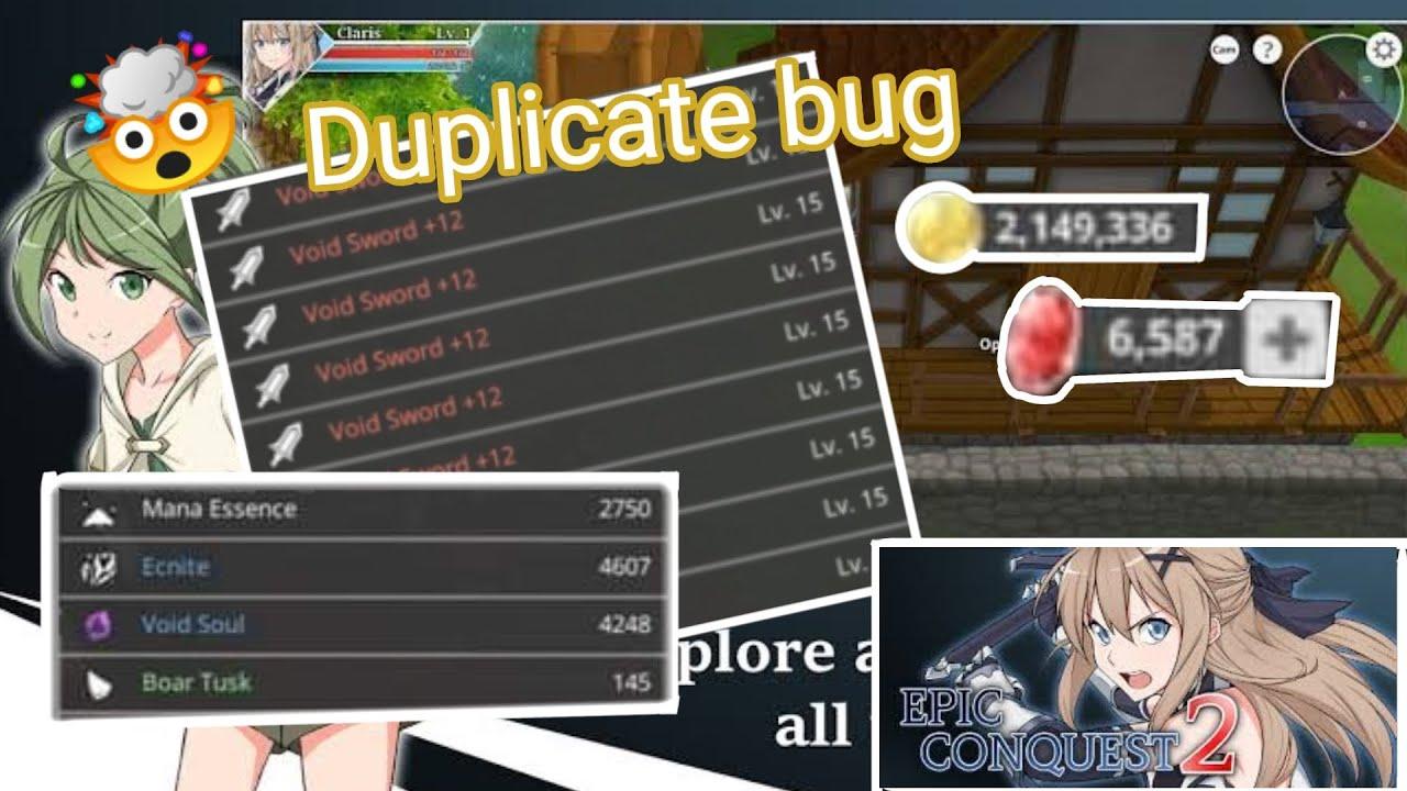Epic Conquest 2 New Bug 2021 Duplicate Item's in Storage ...