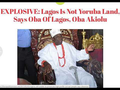 BREAKING!!! Lagos is not for the Yorubas - The Oba of Lagos says