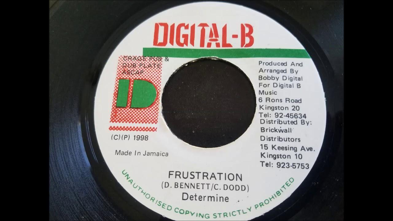 """Download Determine - Frustration - Digital B 7"""" 1998"""