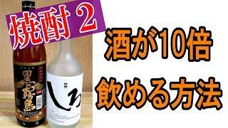 酒に酔わない魔法【焼酎】を〇〇で攻略!飲めない人が飲めるようになる!