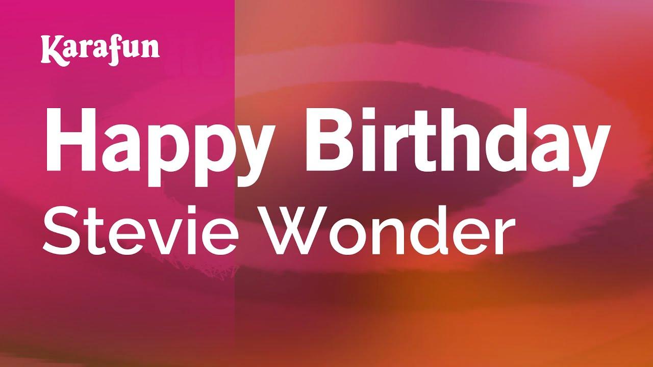 Happy Birthday Stevie Wonder Karaoke Version Karafun Youtube