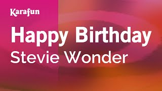 Karaoke Happy Birthday - Stevie Wonder *