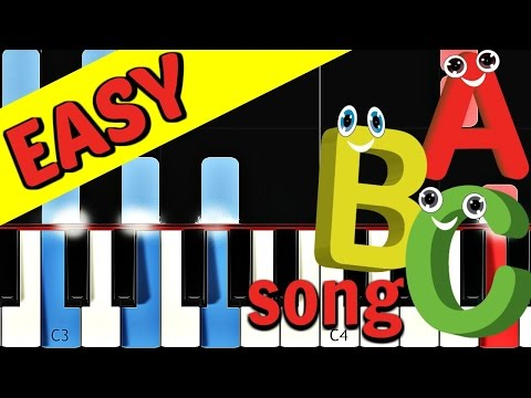 ABC SONG  Nursery Rhymes Collection  Piano