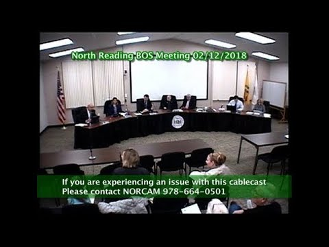 North Reading MA Board of Selectmen Meeting 02/12/18