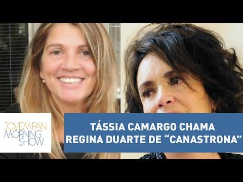 """Por política, Tássia Camargo chama Regina Duarte de """"canastrona"""""""