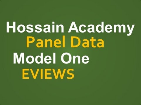 Panel Data  Fixed and Random Effect  Model One  EVIEWS