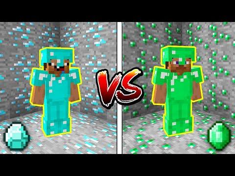 Minecraft NOOB vs. PRO: DIAMOND or EMERALD BATTLE in Minecraft!