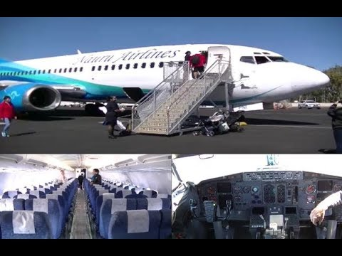 CABIN TOUR:  Nauru Airlines 737-300!  | Including Flight Deck |