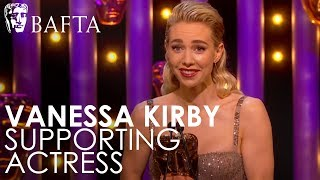 Vanessa Kirby wins Supporting Actress | BAFTA TV Awards 2018