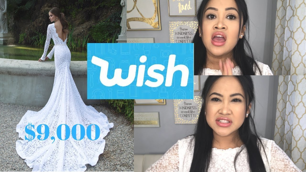 $11 Wedding Dress From WISH: Actually Worth it!? (Org Price $9,000 ...