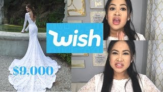 $11 Wedding Dress From WISH: Actually Worth it!? (Org Price $9,000)
