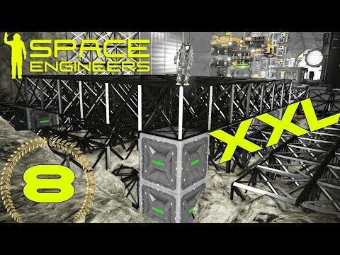 Space Engineers #8 ASCENSOR de 28 PISTONES  Gameplay Español
