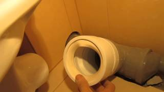 видео Гофра и манжеты для унитаза