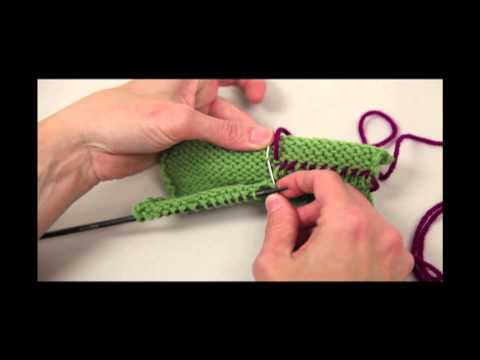 Sewn Hem For Top-Down Knitting