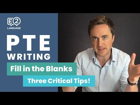 PTE Reading and Writing: Fill in the Blanks | THREE CRITICAL TIPS with Jay!
