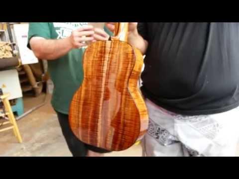 First all Hawaiian endemic hardwood ukulele - Joe describes the different woods