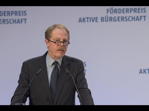 Hans ten Feld: Laudatio auf die Bürgerstiftung Stuttgart